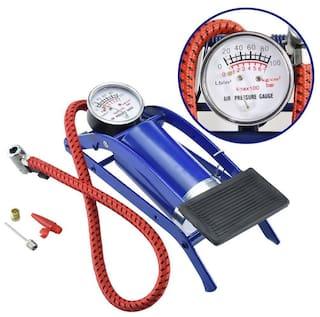 FootPump Multipurpose Air Pressure Foot Pump For Bike Car Cycle Toys Tyre