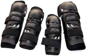 Fox Motorcycle Riding Knee and Elbow Guard (Black;Set of 4)