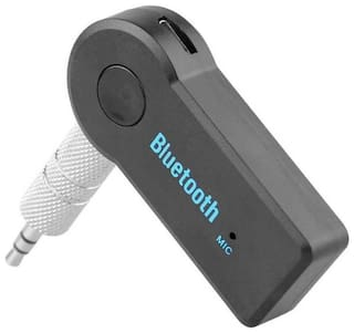 Freckle Car Bluetooth Device with 3.5mm Connector;Audio Receiver (Black)
