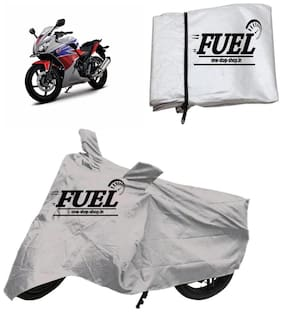 FUEL Body Silver Cover For Universal Bike and Scooty