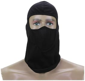 Full Face Head Mask for Sports with Air Net And Mask For Stadium Viewer (Black;Freesize)