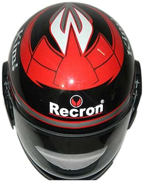 Full Face Helmet Red And Black (1 Piece)
