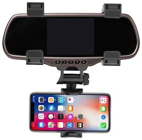 G GAPFILL Car Phone Holder Car Rearview Mirror Mount Phone Holder 360 Degrees For ALL PHONES Stand Universal