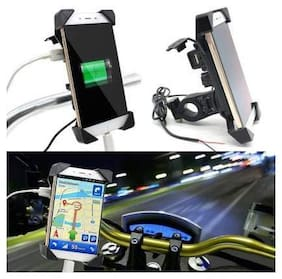 G GAPFILL Motorcycle Phone Mount with USB Charger Port, Bike Motorcycle Cell Phone Holder Mount Stand Bracket for Most Mobile Smartphones