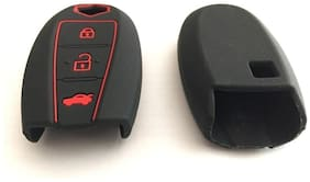 G&S Traders Silicone key cover fit for New Model - Suzuki Vitara Brezza / Baleno / S Cross / Ciaz / Swift smart key Pack of two(2)
