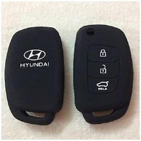 G&S Traders Silicon Key Cover for Hyundai New i20 3 Button Flip Key Pack of two (2)