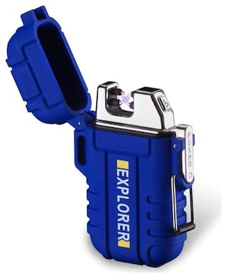 Gabbar Explorer Double Arc Waterproof Rechargeable Lighter with USB Charging Cable