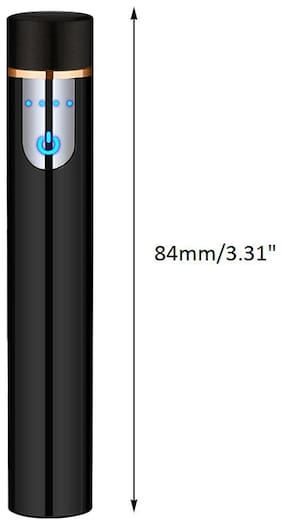 Gabbar Mini Pocket Size Sensor Touch Rechargeable Lighter with Battery Indication and USB Charging Cable