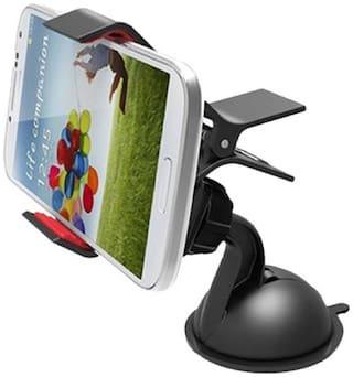 Gadgetx 360 deg Rotating Mobile Phone GPS Holder Stand Car Mount for Smartphones