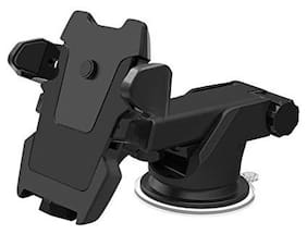 Gadgetx Smart Universal Mobile Stand For Car With Quick One Touch Technology (Expandable & Rotatable) (Black)