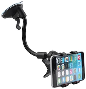 Gadgetx Windshield Mount Stand Car Home Desk Cradle A/C Holder Suction for Mobile Phone Single