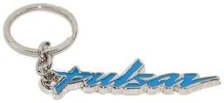 GCT Blue Silver Metal Keyring for Car Bike Men Women (KC-28) Compatible with Bajaj Pulsar Keychain