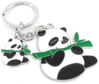 GCT Cute Panda | Teddy Bear Animal Cartoon (KC-4) Metal Keychain for Car Bike Men Women Kids Keyring