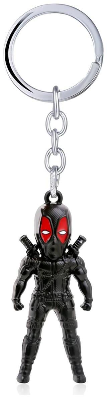 GCT Deadpool Action Figure Marvel Avengers Superhero (KC-8) Black Metal Keychain for Car Bike Men Women Keyring