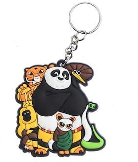 GCT One Sided Cute Panda | Teddy Bear Animal Cartoon (KC-3) Rubber Keychain for Car Bike Men Women Kids Keyring