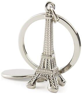 GCT Paris Love Eiffel Tower (KC-2) Silver Metal Keychain for Car Bike Men Women Keyring