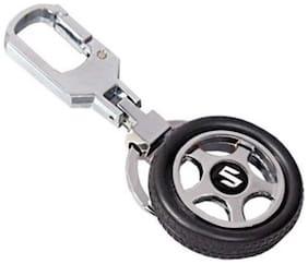 GCT Suzuki Spinning Tyre Rotary Wheel Locking Metal Keychain / Keyring / Key Ring / Key Chain