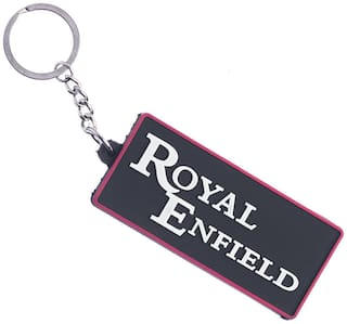 GCT Two Sided Black Rubber Keyring for Car Bike Men Women (KC-24) Compatible with Royal Enfield RE Bullet Bike Keychain
