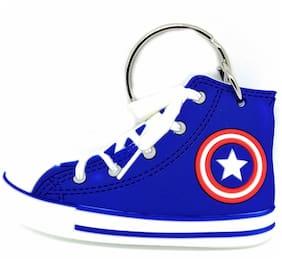 GCT Two Sided Captain America Sneaker Sports Shoes (KC-58/1) Rubber Keychain for Car Bike Men Women Boys Kids Keyring
