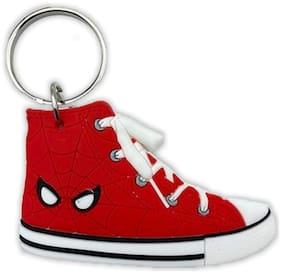 GCT Two Sided Spiderman Sneaker Sports Shoes Superhero (KC-58/1) Rubber Keychain for Car Bike Men Women Boys Kids Keyring