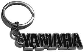 GCT Yamaha Logo Metal Keychain / Keyring / Key Ring / Key Chain (Black/Silver)