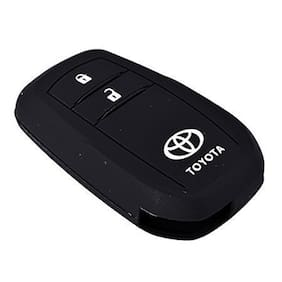 Genxtra Silicone Key Cover for Toyota Innova Crysta 2016 (for Push Button Smart Key only)