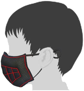 Gills - Toby - Advanced Air and Dust Mask for use as Bike mask, Face Mask, Anti mask or N99 mask (Small/Kids, Hot Black)