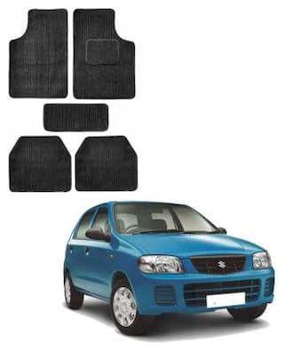 Gking Black Fabric Standard Foot Mat For Maruti Suzuki Alto