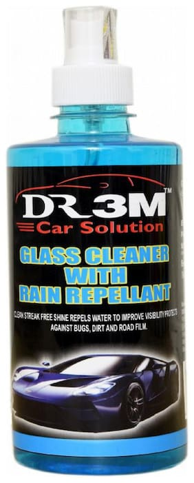 GLASS CLEANER WITH RAIN REPELLANT 500ml Spray .