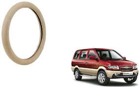 GLOBALINK Beige PU Leather Steering Cover For Chevrolet Tavera Beige