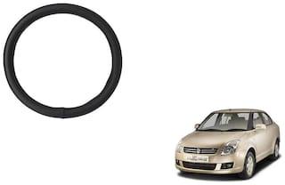 GLOBALINK Black PU Leather Steering Cover For Maruti Suzuki Swift Dzire Black