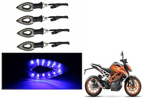 GLOBALINK Blue Eye Shape Indicators Set of 4 For KTM Duke 200