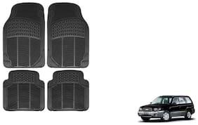 GLOBALINK Black Rubber Floor/Foot Mat Set Of 4 For Chevrolet Forestor