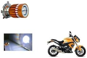 GLOBALINK H4 LED COB Multicolor Flasher Headlight Motorcycle Bike Head Lamp Light Bulb for Mahindra Mojo