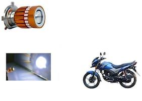 GLOBALINK H4 LED COB Multicolor Flasher Headlight Motorcycle Bike Head Lamp Light Bulb for Honda CB Shine
