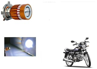 GLOBALINK H4 LED COB Multicolor Flasher Headlight Motorcycle Bike Head Lamp Light Bulb for Hero Splendor Pro