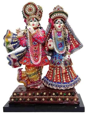God radha krishan  Resin Idol Statue Decorative Showpiece
