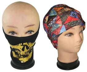 Goodluck Biker Facemask With Headwrap Set