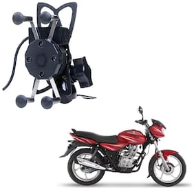 Grand Pitstop Bike Mobile Holder with Charger for Bajaj Discover Motorcycle