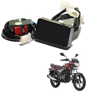 Grand Pitstop Bike PnP Hazard Flasher;Light;Module + Control Switch;20 Patterns for Bajaj Bikes with NO Auto Cut Off System
