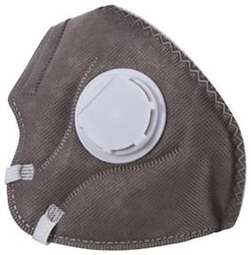 Grapits Activated Disposable Non-woven Carbon Mask with Breathing Valve for Adults (N-95, PM 2.5 Filter)