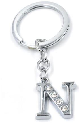 GRD Enterprises Alphabet N Metal Key Chain For MEN & WOMEN