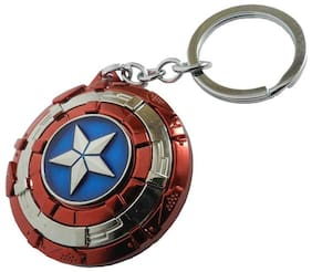GRD Enterprises Captain America The Avengers Shield Metal Multi-Colour (Revolving/Rotatable) Keychain