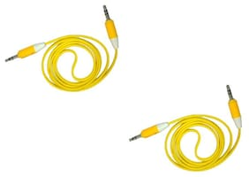 Griffin Aux Cable Yellow (Pack Of 2)