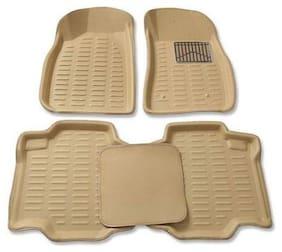 Gromaa  4D Beig.114 Car 4D Beige Color Foot Mat For Maruti Suzuki Swift Dzire