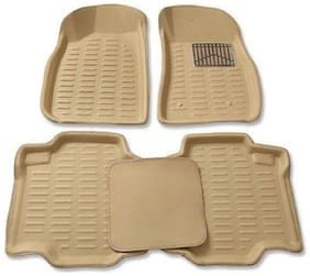Gromaa  4D Beig.99 Car 4D Beige Color Foot Mat For Renault KWID
