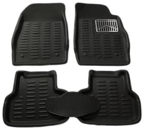 Gromaa  4D Blk.129 Car 4D Black Color Foot Mat For Mahindra Bolero