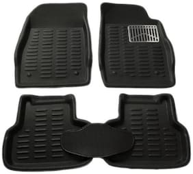 Gromaa  4D Blk.27 Car 4D Black Color Foot Mat For Maruti Suzuki Alto 800