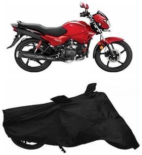 Gromaa bike cover for hero glamour  black  cover