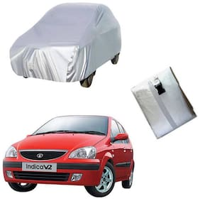Gromaa Silver Car Body Cover For Tata Indica V2